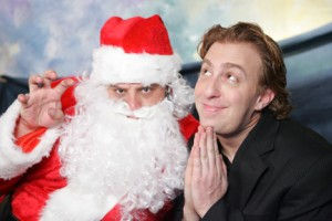 Brett Walkow with Santa Claus