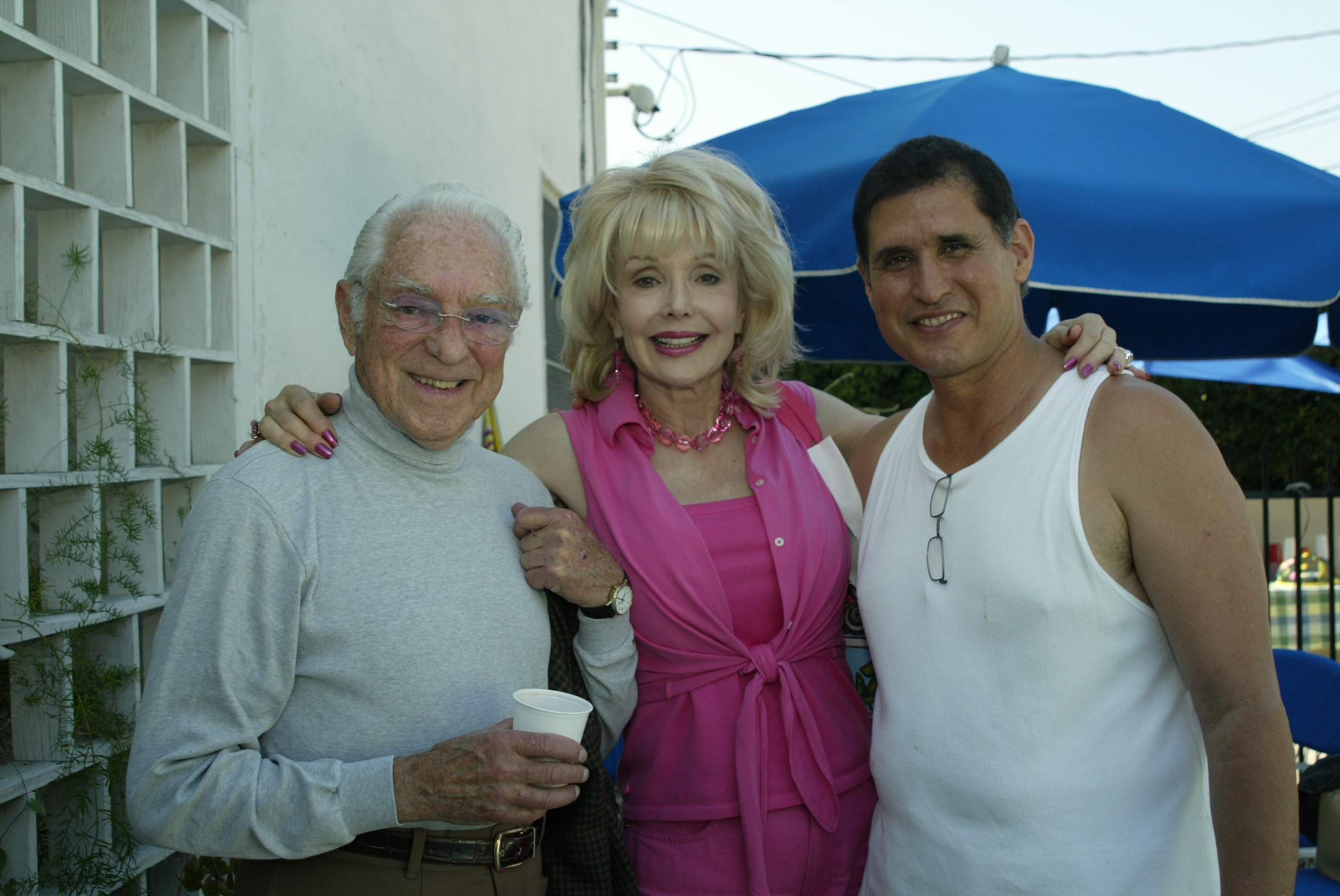 Director Vincent Sherman, Francine York, and John Michael Ferrari