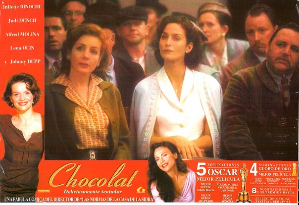 Chocolat poster with Helene Cardona and Carrie-Anne Moss