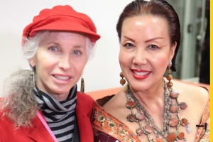 Producer Pepper Jay and Designer Sue Wong photo by John Michael Ferrari