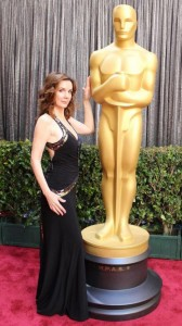 Actress Hélène Cardona selects Sue Wong gown for Oscars