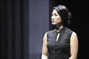 Kara Wang plays Vice Minister of Culture Xi Yan in East West Players theatrical production of CHINGLISH written by David Henry Hwang.