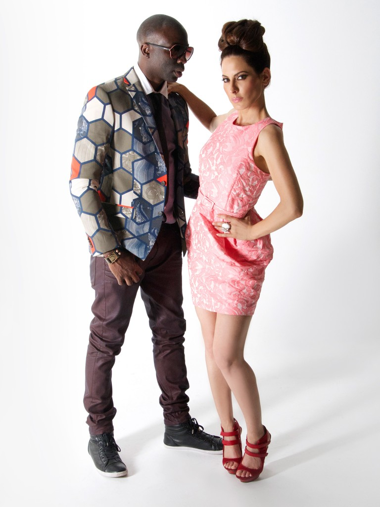 Sam Sarpong and Kerri Kasem